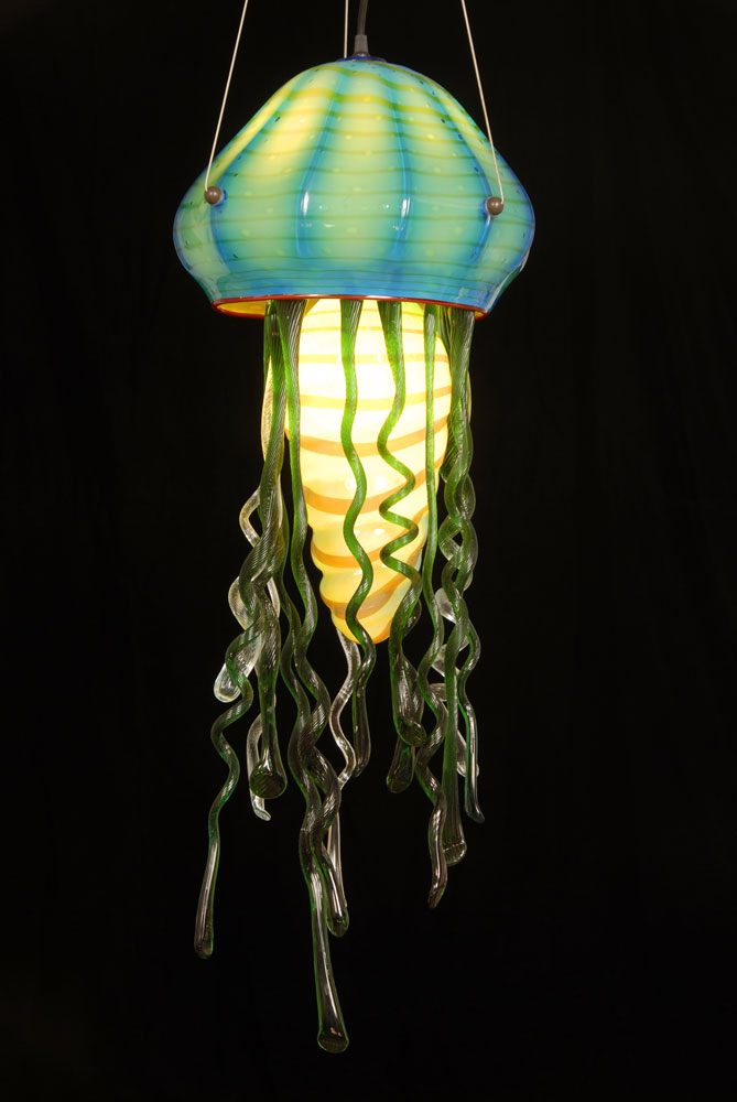 Jelly fish chandelier ornamental elements this unusual light fixture from rick strini is definitely a conversation piece im linking to the product page for the jelly fish chandelier and not the mozeypictures Choice Image